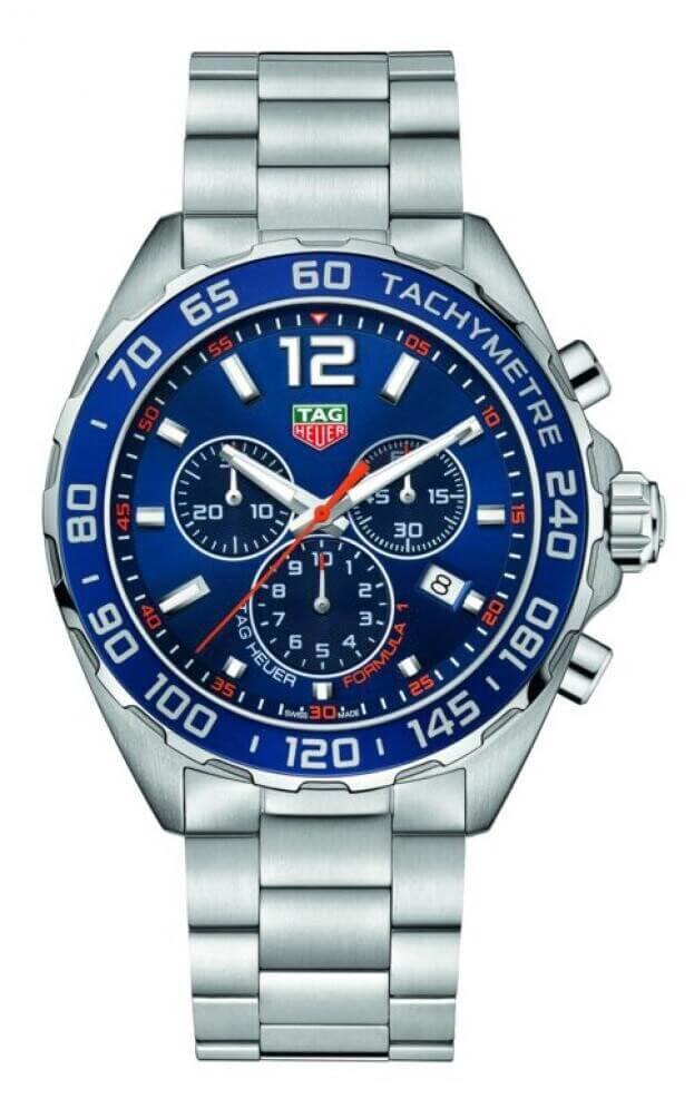 TAG HEUER Formula 1 Quartz Chronograph 43mm Μπλε Καντράν Ανδρικό Ρολόι