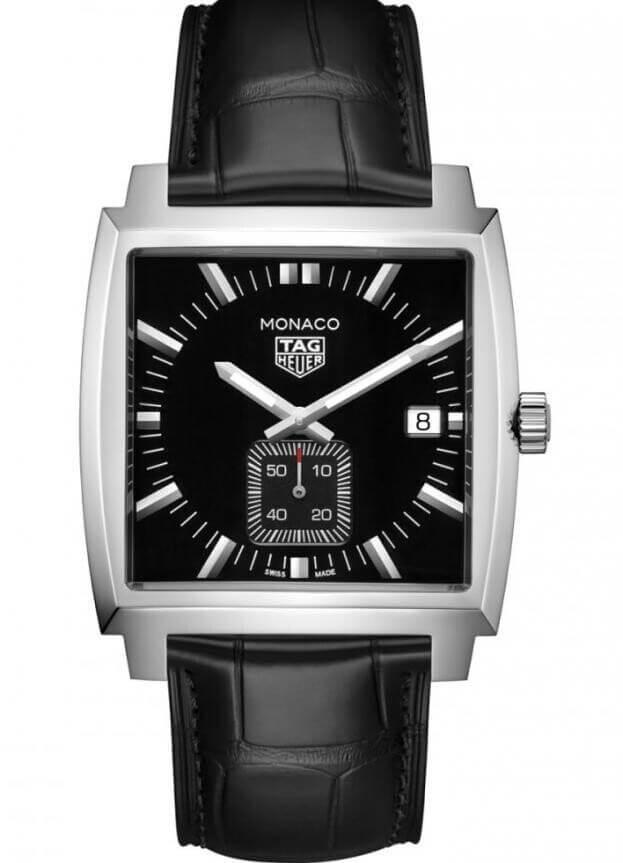 TAG HEUER Monaco Quartz 37mm Μαύρο Καντράν Ανδρικό Ρολόι