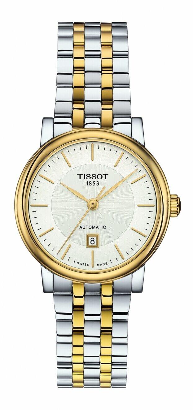 TISSOT Carson Premium Automatic Lady 30mm Ασημί  Καντράν Γυναικείο Ρολόι