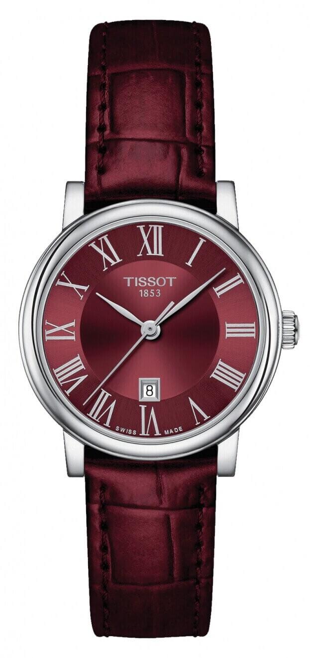TISSOT Carson Premium Quartz Lady 30mm Μπορντώ Καντράν Γυναικείο Ρολόι