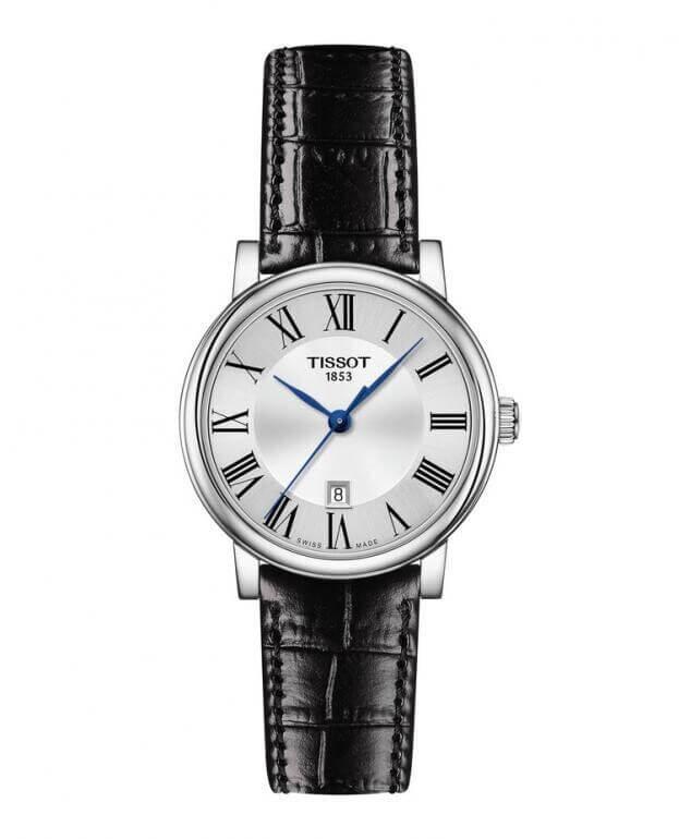 TISSOT Carson Premium Lady Quartz 30mm Ασημί Καντράν Γυναικείο Ρολόι