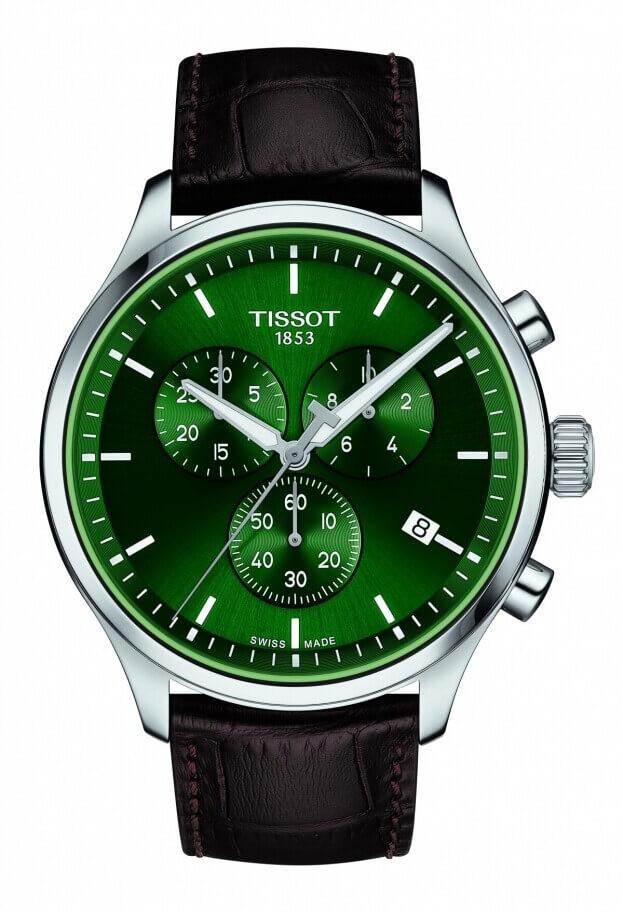 TISSOT CHRONO XL CLASSIC 45ΜΜ Πράσινο Καντράν Ανδρικό Ρολόι