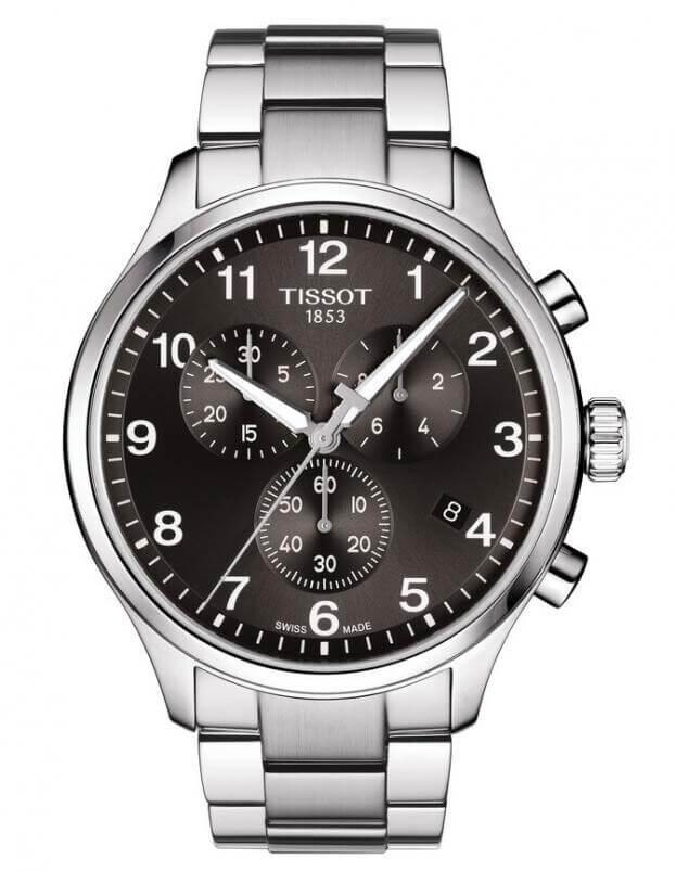 TISSOT CHRONO XL CLASSIC 45ΜΜ Μαύρο Καντράν Ανδρικό Ρολόι