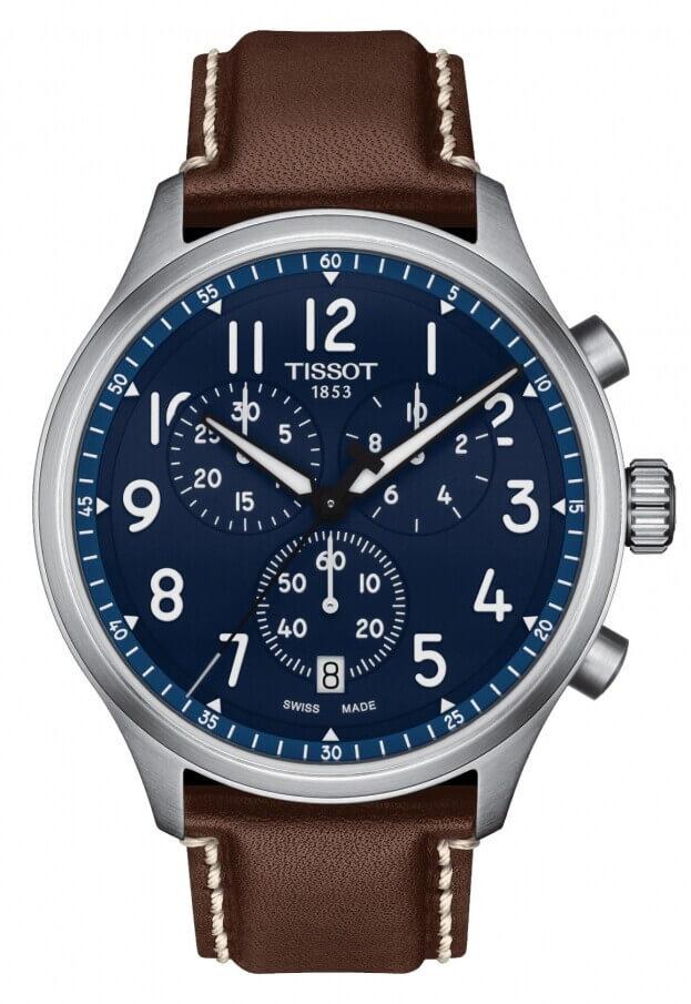 TISSOT CHRONO XL VINTAGE 45ΜΜ Μπλε Καντράν Ανδρικό Ρολόι