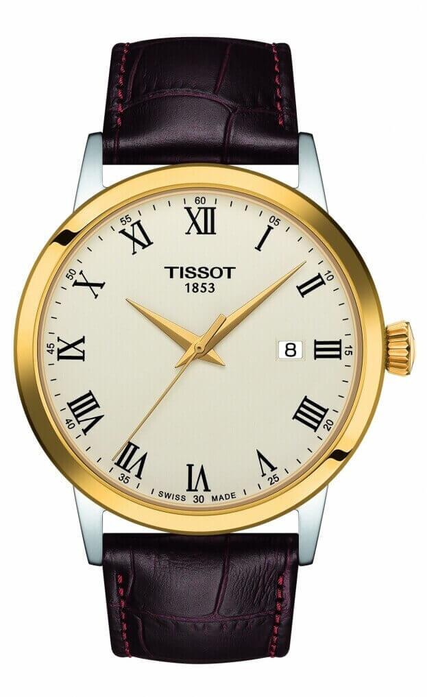 TISSOT Classic Dream Quartz 42mm Ιβουάρ Καντράν Ανδρικό Ρολόι