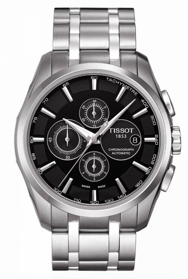 TISSOT Coutourier Automatic Chronograph 43mm Μαύρο Καντράν Ανδρικό Ρολόι