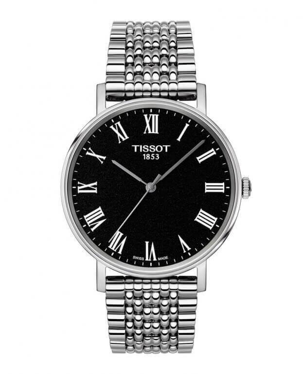 TISSOT Everytime Medium T-Classic Quartz 38mm Μαύρο Καντράν Ανδρικό Ρολόι