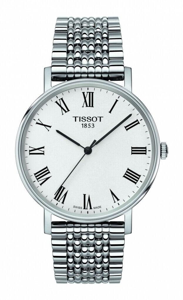 TISSOT Everytime medium 38mm Ασημί Καντράν Ανδρικό Ρολόι
