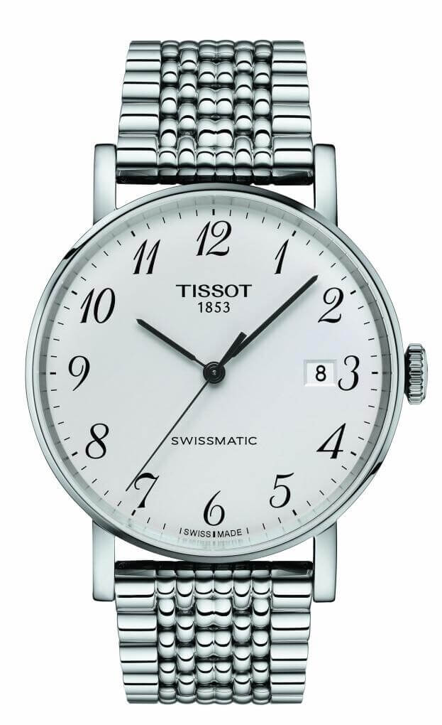 TISSOT Everytime Swissmatic 40mm Ασημί Καντράν Ανδρικό Ρολόι