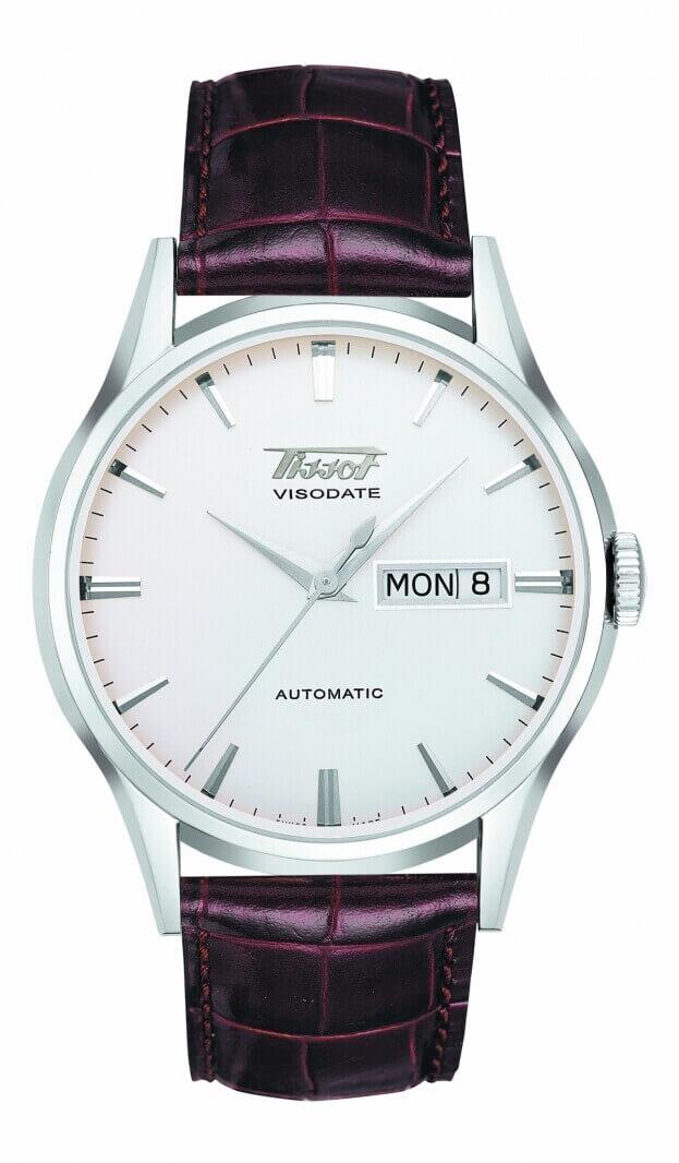 TISSOT Heritage Visodate Automatic 40mm Ασημί Καντράν Ανδρικό Ρολόι