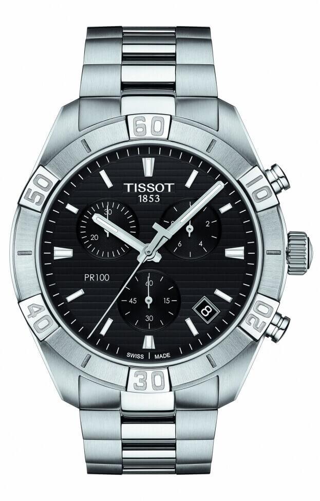 TISSOT PR 100 Sport Gent Chronograph Quartz 42mm Μαύρο Καντράν Ανδρικό Ρολόι