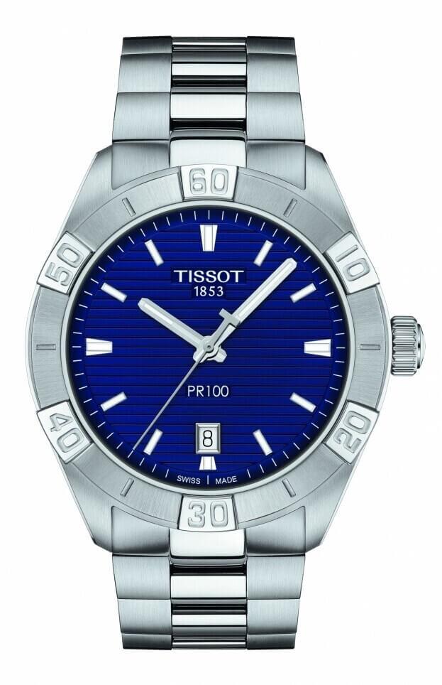 TISSOT PR 100 Sport Gent Quartz 42mm Μπλε Καντράν Ανδρικό Ρολόι