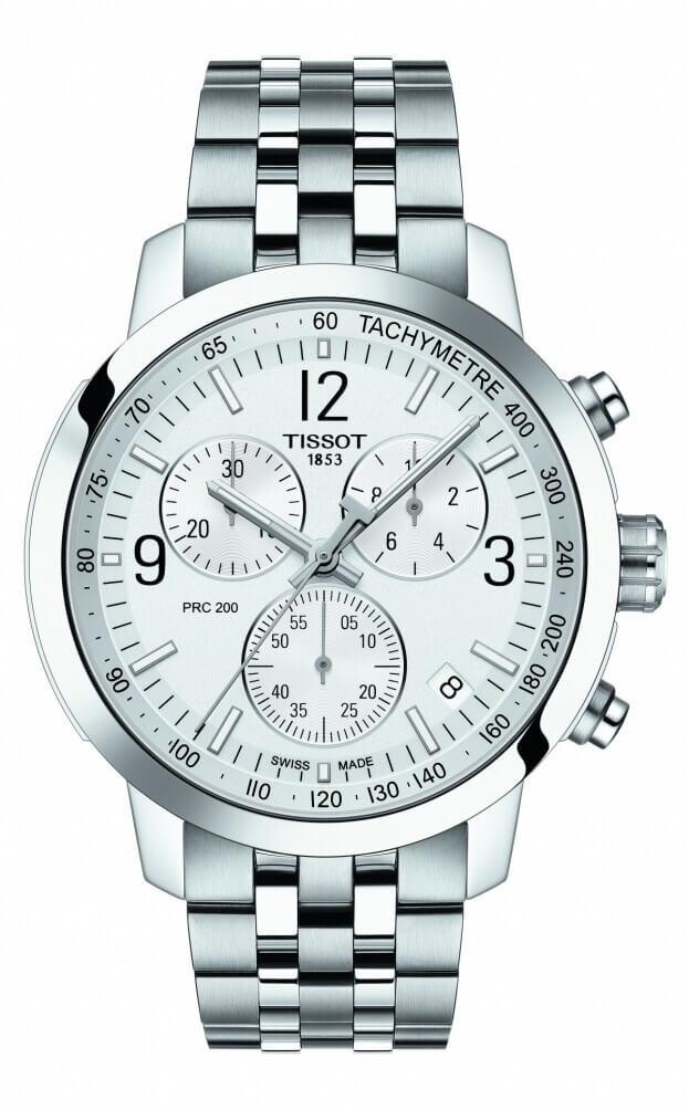 TISSOT T-Sport PRC 200 Χρονογράφος Quartz 42mm Ασημί Καντράν Ανδρικό Ρολόι