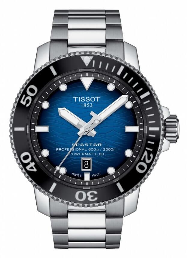 TISSOT SEASTAR 2000 PROFESSIONAL POWERMATIC 80 46mm Μπλε Καντράν Ανδρικό Ρολόι