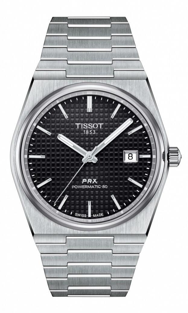 TISSOT T-Classic PRX Powermatic 80 40mm Μαύρο Καντράν Ανδρικό Ρολόι