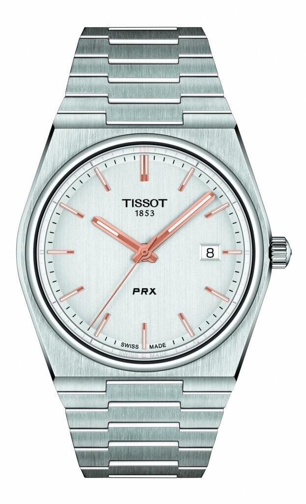 TISSOT T-Classic PRX Quartz 40mm Ασημί Καντράν Ανδρικό Ρολόι