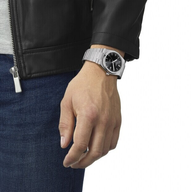 TISSOT T-Classic PRX Quartz 40mm Μαύρο Καντράν Ανδρικό Ρολόι