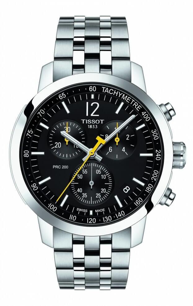 TISSOT T-Sport PRC 200 Χρονογράφος Quartz 42mm Μαύρο Καντράν Ανδρικό Ρολόι
