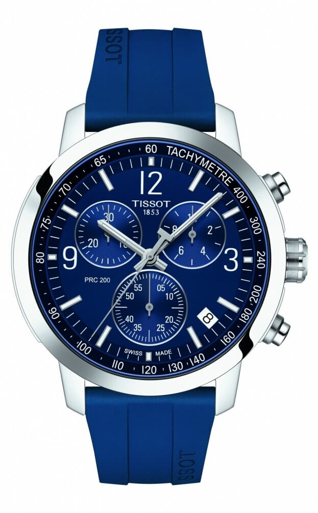 TISSOT T-Sport PRC 200 Χρονογράφος Quartz 42mm Μπλε Καντράν Ανδρικό Ρολόι