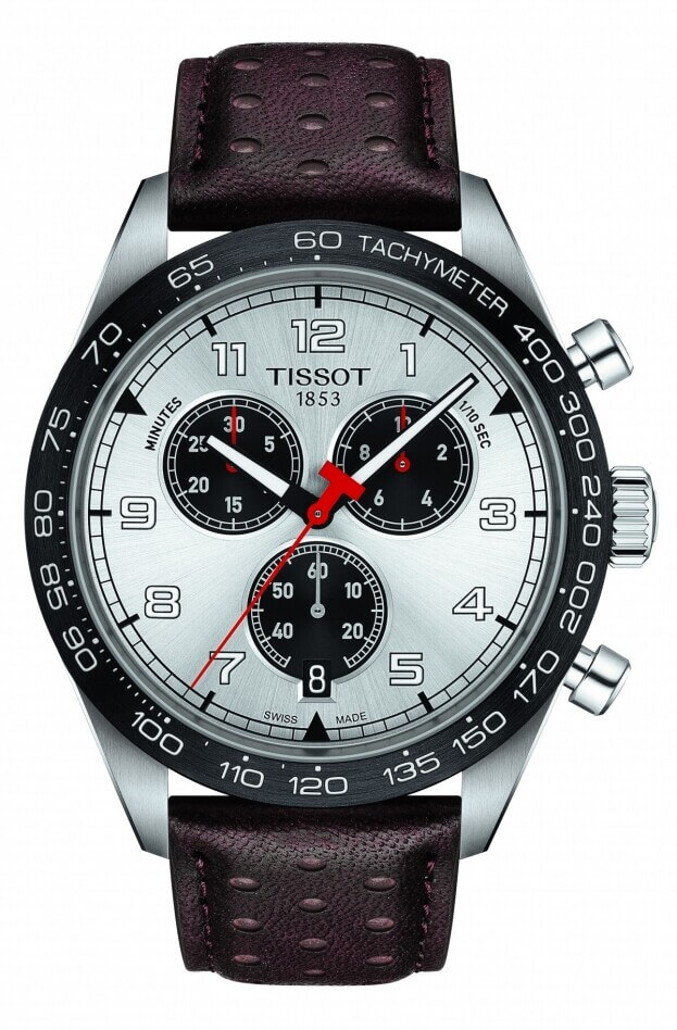 TISSOT T-Sport PRS 516 Χρονογράφος Quartz 45mm Ασημί Καντράν Ανδρικό Ρολόι