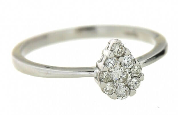 VERITA Δαχτυλίδι Λευκός Χρυσός Κ14 με διαμάντια