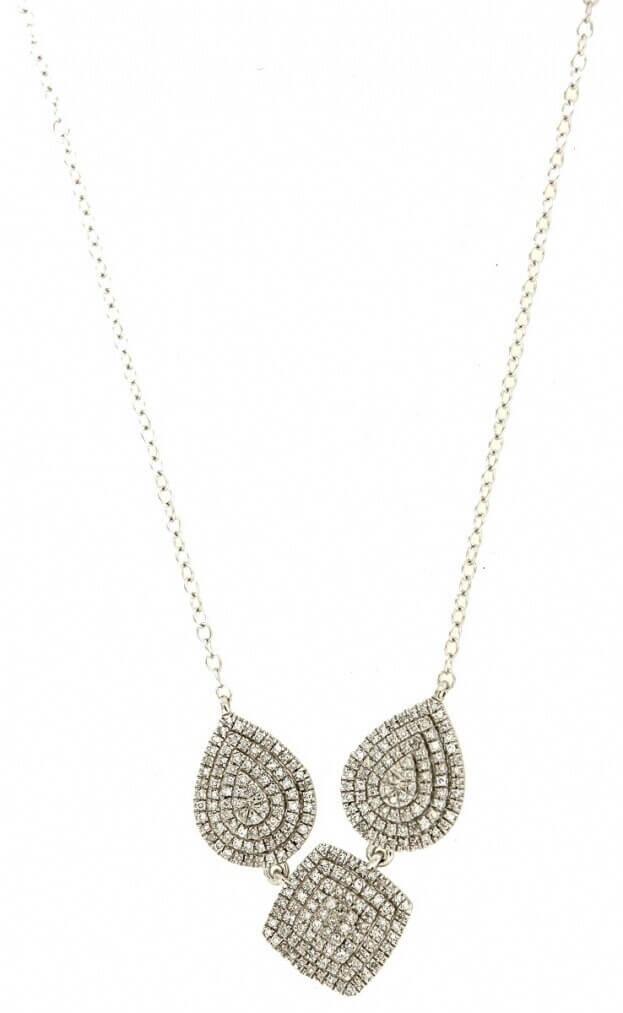 VERITA Κολιέ Λευκός Χρυσός Κ14 με διαμάντια
