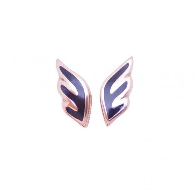 VERY GAVELLO ANGEL EARRINGS  ROSE GOLD K9 VOPANXR1