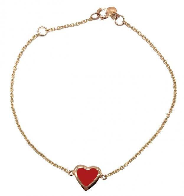 VERY GAVELLO HEART ROSE GOLD K9 BRACELET
