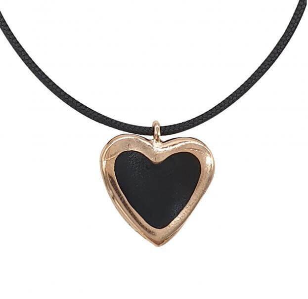 VERY GAVELLO HEART ROSE GOLD K9 PENDANT