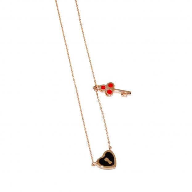 VERY GAVELLO MULTI ROSE GOLD K9 NECKLACE VCTOHKE2XR8