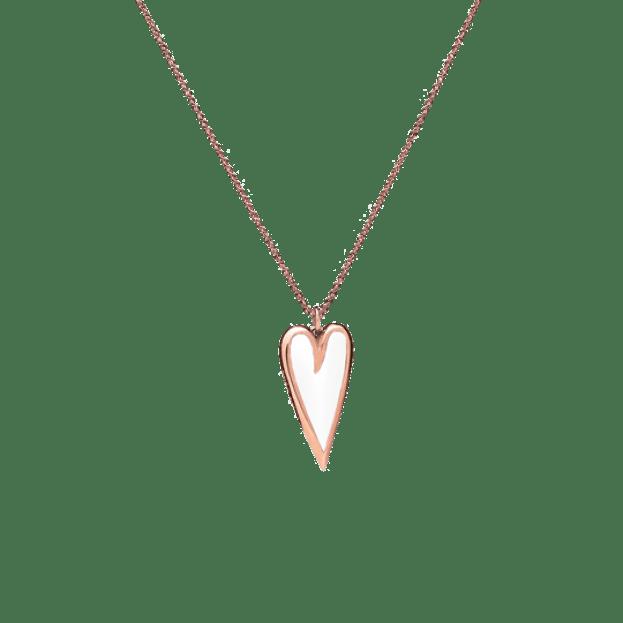 VERY GAVELLO Nina Heart Ροζ Χρυσός Κ9 & Λευκή Essenza
