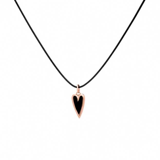 VERY GAVELLO Nina Heart Ροζ Χρυσός Κ9 & Μαύρη Essenza