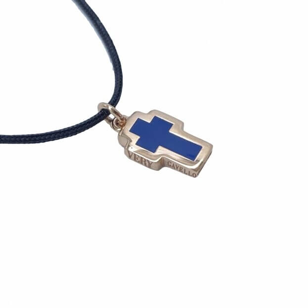 VERY GAVELLO TATTOO Ροζ Χρυσός K9 Μενταγιόν Μπλε Essenza