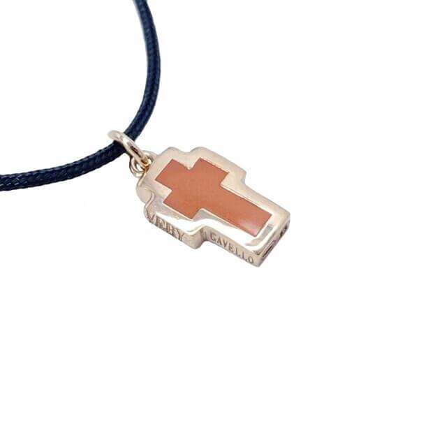 VERY GAVELLO TATTOO Ροζ Χρυσός K9 Μενταγιόν Σομών Essenza