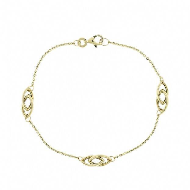 Inglessis Collection Βραχιόλι Κίτρινος Χρυσός Κ14 με στοιχεία χρυσού
