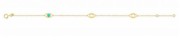 Inglessis Collection Παιδικό Βραχιόλι Κίτρινο Χρυσό Κ14