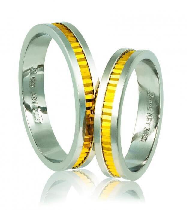 WEDDING RINGS 518 GD ΛΕΥΚΟΣ ΚΑΙ ΚΙΤΡΙΝΟΣ ΧΡΥΣΟΣ Κ14