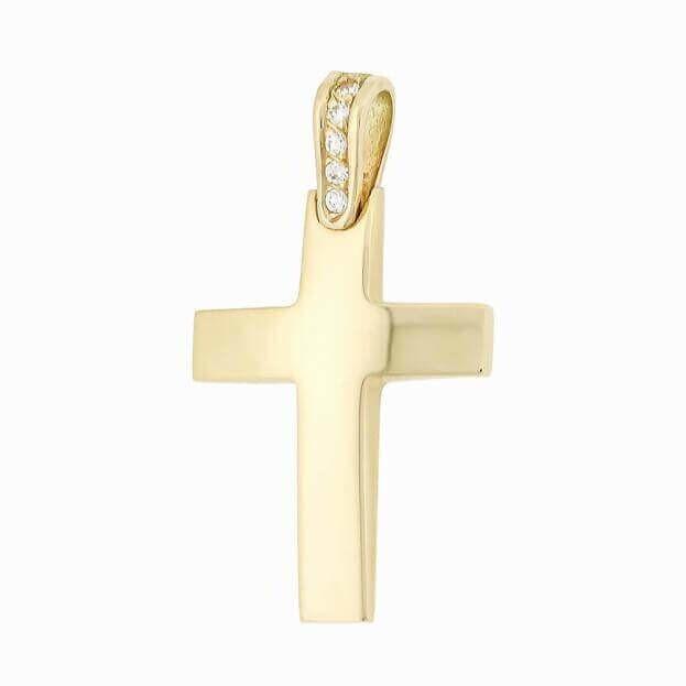 Χρυσός Σταυρός Inglessis Collection από Κίτρινο Χρυσό Κ18 με μπριγιάν