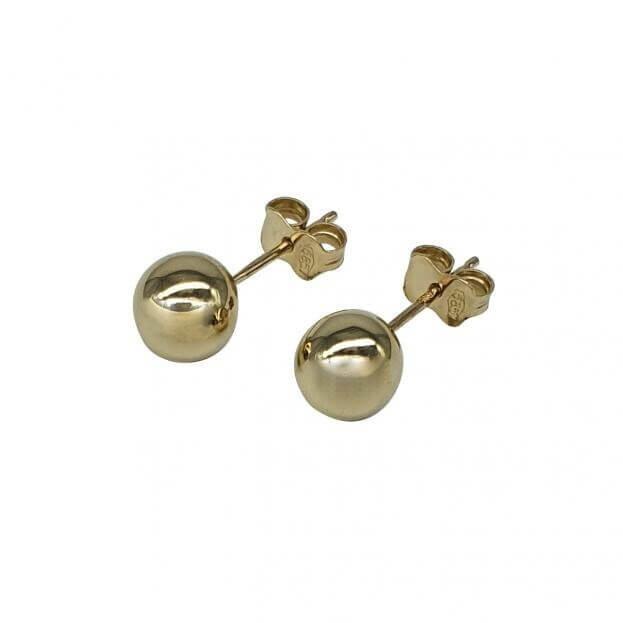 INGLESSIS COLLECTION Σκουλαρίκια K14 Κίτρινος Χρυσός